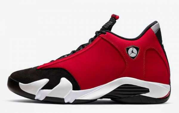 """Air Jordan 14 """"Gym Red"""" Black/Gym Red-White-Off White 2020 487471-006 For Sale Online"""