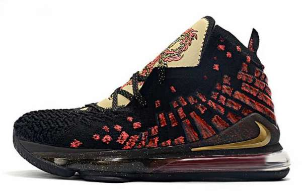 """Nike LeBron 17 """"Courage"""" Black/Red-Metallic Gold 2020 CD5054-001 For Sale OnlineC"""