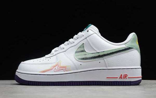 Nike Air Force 1 Music DeAaron Fox Brittney Griner White/Red 2020 New Released CW6015-100
