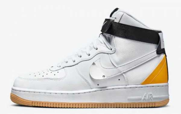 """NBA x Nike Air Force 1 High """"University Gold"""" 2021 New Arrival CT2306-101"""
